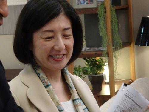 説明する大塚久美子社長(6月15日撮影)