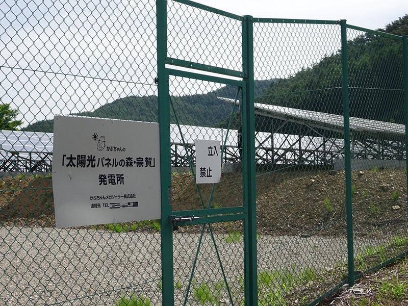 かぶちゃんの太陽光パネルの森・宗賀(長野県、7月撮影)