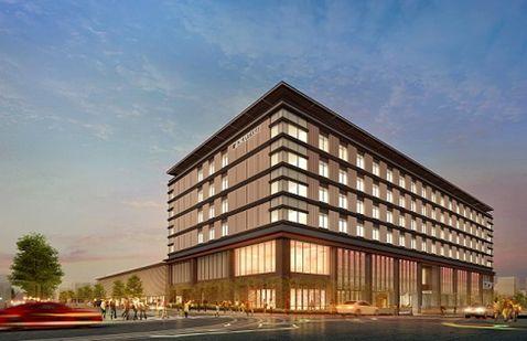 2020年開業予定の奈良市のJ.W.マリオット(森トラスト提供)