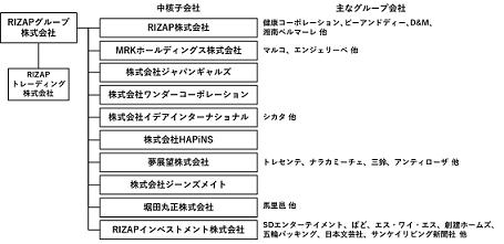 RIZAPグループ再編案(RIZAPグループ提供)